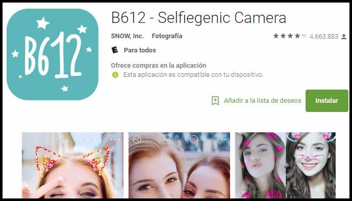 b612 para Android