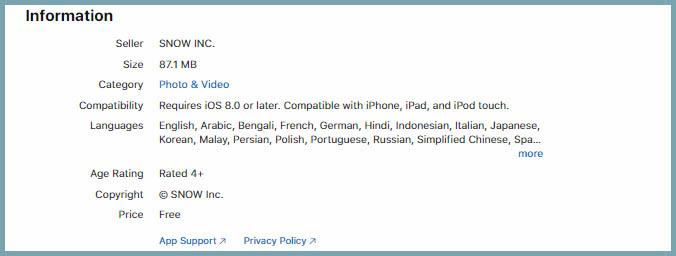 caracteristicas para mantener B612 actualizado en iOS