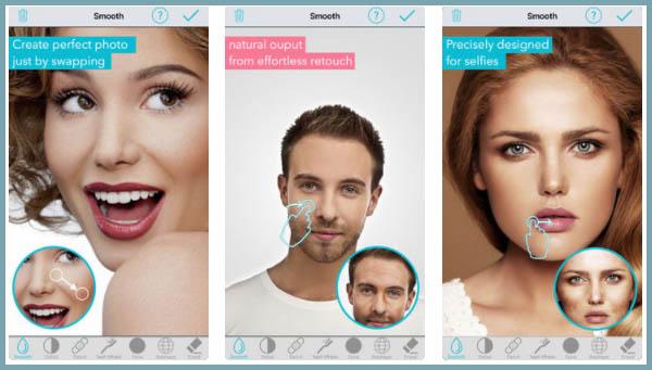 selfie editor para iOS vs B612